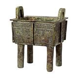商晚期 安阳青铜饕餮纹方鼎